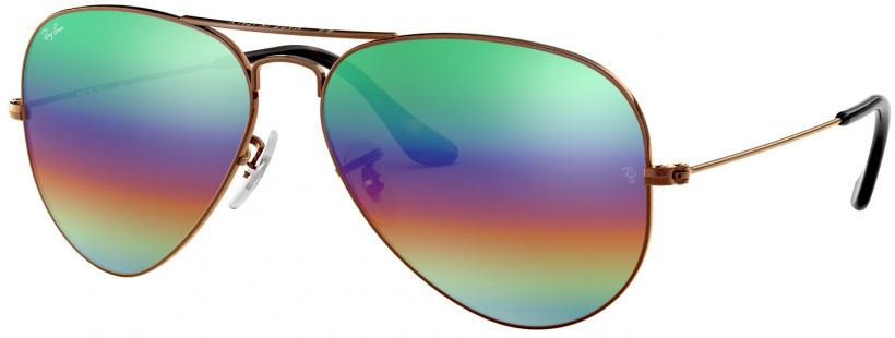 Ray-Ban Aviator Large Metal Mineral Flash Lenses RB3025