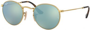 Ray-Ban Round Metal Flat Lenses RB3447N-001/30-50
