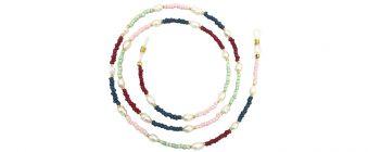 Boho Beach Sunny Necklace - Beaded Pearl Sunny Necklace Pastel Tones