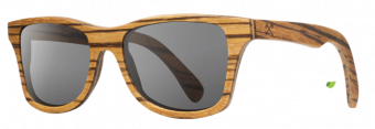 Shwood Canby (Select): Zebrawood - Grey Polarized