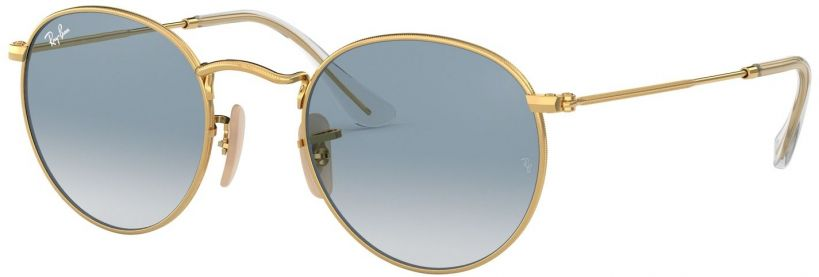 Ray-Ban Round Metal Flat Lenses RB3447N-001/3F
