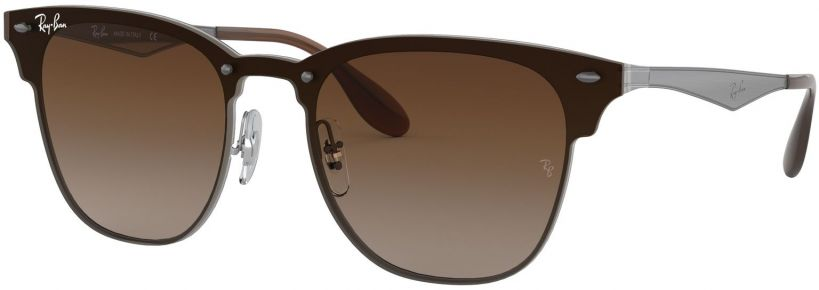Ray-Ban Blaze Clubmaster Flat Lenses RB3576N-041/13