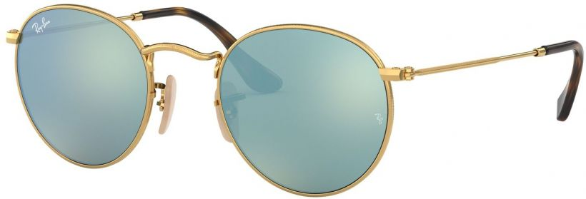 Ray-Ban Round Metal Flat Lenses RB3447N-001/30