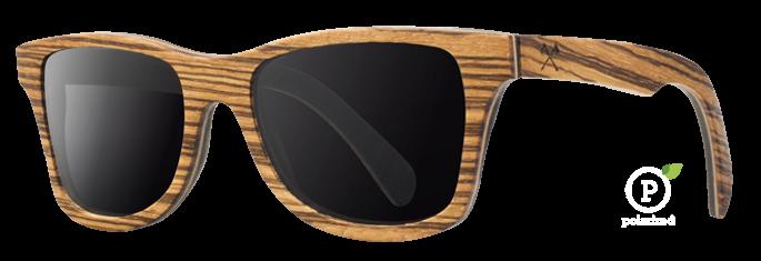 Shwood Canby (Select): Zebrawood / East Indian Rosewood - Grey Polarized