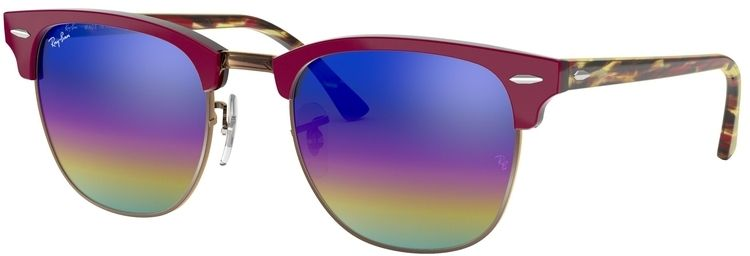 Ray-Ban Clubmaster Mineral Flash Lenses RB3016 1222C2 4921